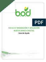 533-G-57 Migracion y Afiliacion Nueva Banca Digital