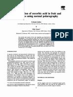 Determinacion de Acido Ascorbico en Frutas y Vegetales Por Polarografia Normal