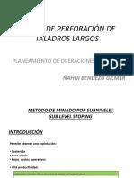 Diseño Taladros Largos