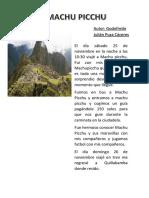 Machu Picchu Godofredo