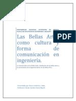 Las Bellas Artes como cultura y forma de comunicación  en ingeniería.