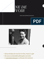 simone de beauvoir  powerpoint in class exercise