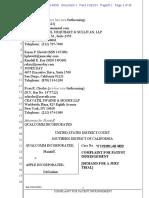 Qualcomm v. Apple Complaint For Patent Infringement