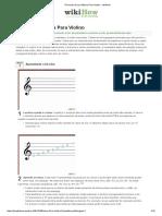 4 Formas de Ler Música Para Violino - WikiHow