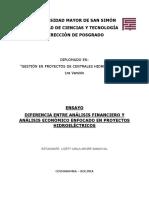 Ensayo Dif. Analisis Financiero y Economico