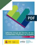 Informe Anual Del Sector de Los Contenidos Digitales Edicion 2015
