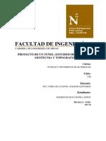 Proyecto de Un Tunel Estudios de Geológia, Geotecnia y Topografia