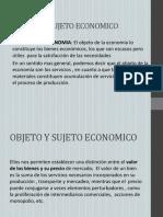 Objeto y Sujeto Economico