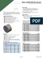 d350 Taper Lock End Anchor Tech Data Sheet