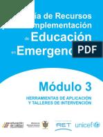 Guía de Recursos Para La Implementacion de Educacion en Emergencias