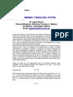 MASA MÍNIMA Y MASA DEL FOTÓN