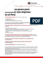 Principales Pasos Para Establecer Una Empresa en El Peru