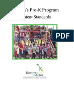 pk content standards