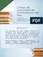 Código de Licenciados de Administración Del Perú.pptx