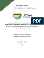 Administracion de Recursos Humanos en El Desarrollo Organizacional en La Empresa Drager