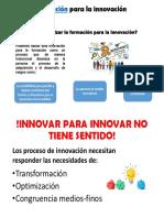 Formación Para La Innovación