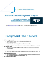 Black Belt Project Storyboard Template