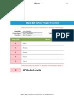 Black Belt Tollgate Checklist
