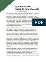 Texto Argumentativo-la Tecnologia