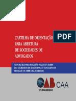 CartiIha Contrato Social para Sociedades de Advogados