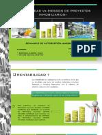Rentabilidas vs Riesgos de Proyectos Inmobiliarios