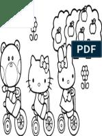 Mewarnai Gambar Hello Kitty 4