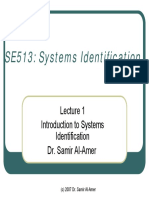 SE513 Lect1 Introduction to Identification