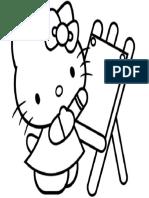 Mewarnai Gambar Hello Kitty 6