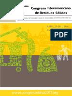 MEMORIAS 7mo Congreso Interamericano de Residuos Sólidos AIDIS-DIRSA- Ecuador 2017