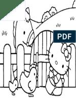 Mewarnai Gambar Hello Kitty 7