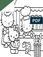 Mewarnai Gambar Hello Kitty 9