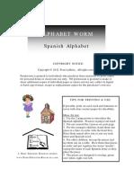Spanish Alphabet Worm