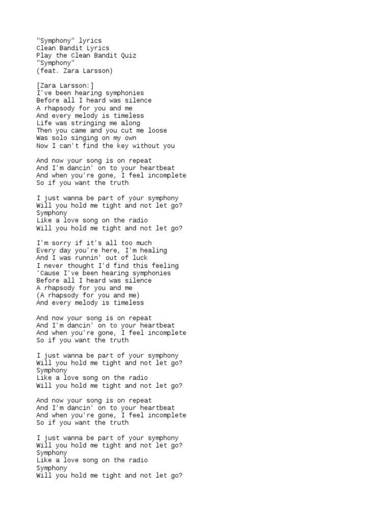 Clear Bandit Symphony Lyrics