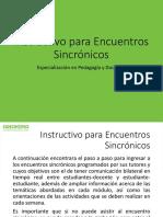 Instructivo Encuentros Sincrónicos
