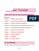 Heat Transfer IES GATE IAS 20 Years Question and Answers by S K Mondal