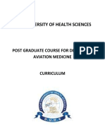 Curriculum for Diploma in Aviation Medicine-20130726
