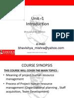Unit - 2 Project Human Resource Management