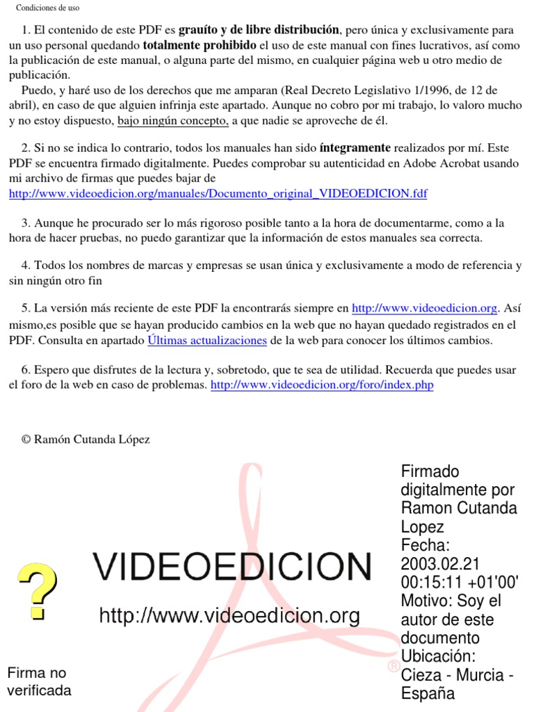 Manual Edicion de Video