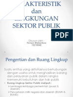 Karakteritik Dan Lingkungan Sektor Publik