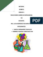 Unidad 4 Reacciones Quimicas Inorganicas