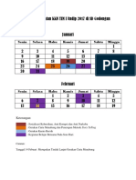 Jadwal Kegiatan KKN TIM I Undip 2017 Di SD Godongan