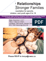 healthy relationships event poster- martindale