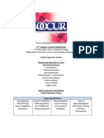 Programme Outline 15th OOCUR Annual Conference Draft 1