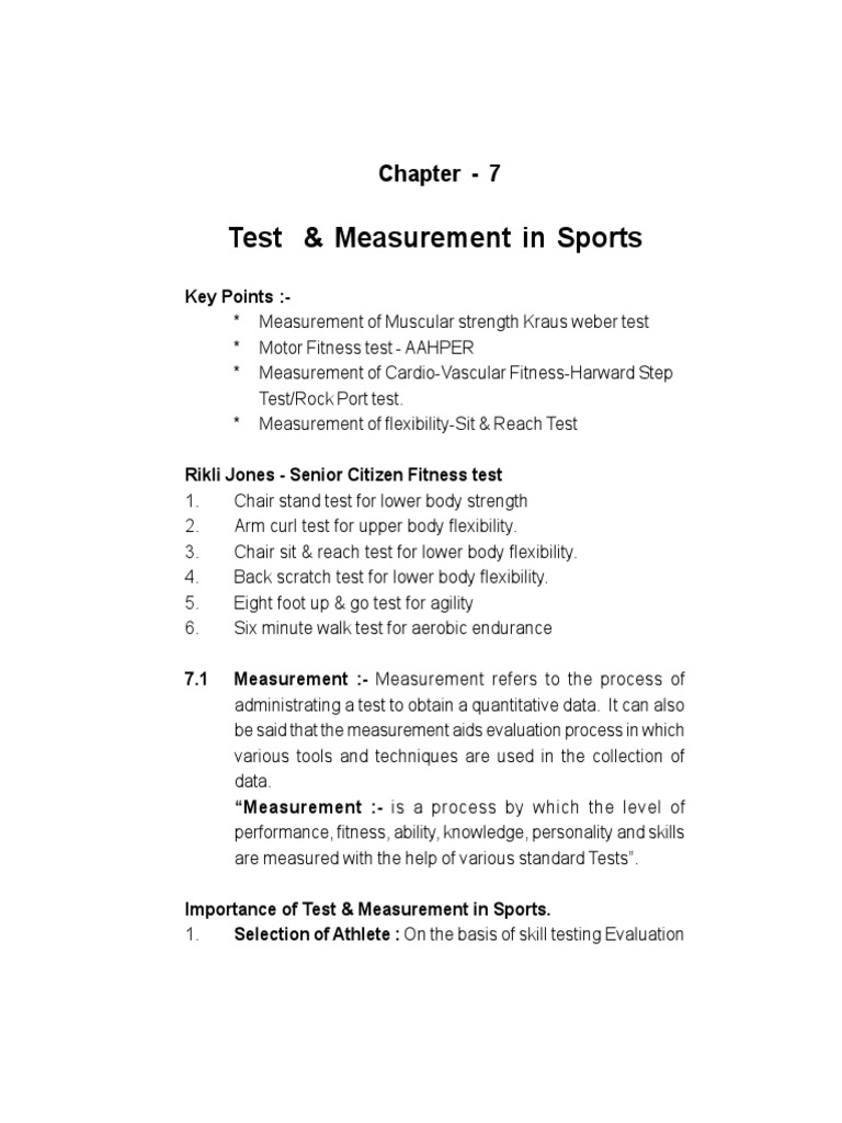 Physical Education Class 12 Study Material Chapter 7