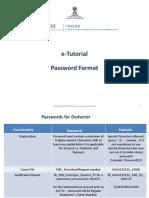 e Tutorial Password Format