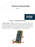 What is Digital Multimeter (DMM) and Its Working Principle Details