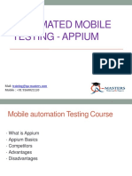 Automated Mobile Testing - Appium|appium selenium training
