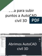 Guía Para Subir Puntos a AutoCAD Civil 3D