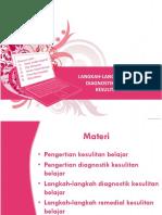 Langkah-langkah Operasional Diagnostik Dan Remedial Kesulitan Belajar