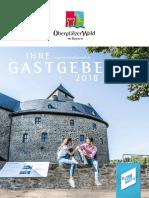 Oberpfälzer Wald - Gastgeberverzeichnis 2018